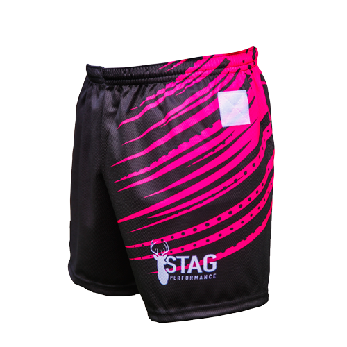 Rebel Unisex Tag Rugby Shorts Left Side View