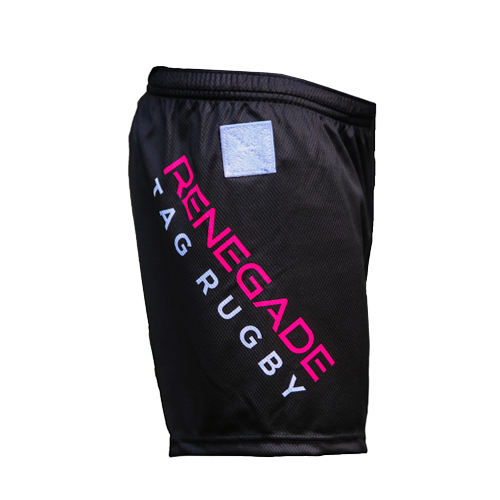 Rebel Unisex Tag Rugby Shorts Right Side View